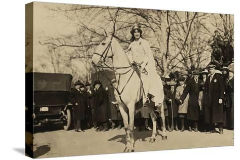 Suffragist Inez Milholland, Was the 'Herald' of Washington Parade, March 3, 1917--Stretched Canvas Print