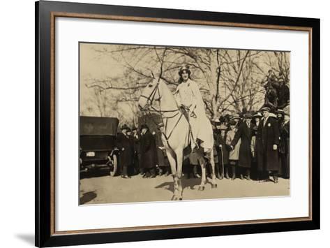 Suffragist Inez Milholland, Was the 'Herald' of Washington Parade, March 3, 1917--Framed Art Print