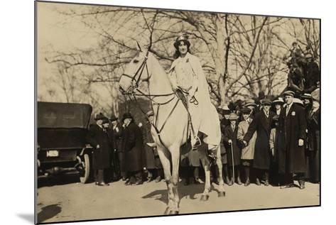 Suffragist Inez Milholland, Was the 'Herald' of Washington Parade, March 3, 1917--Mounted Photo