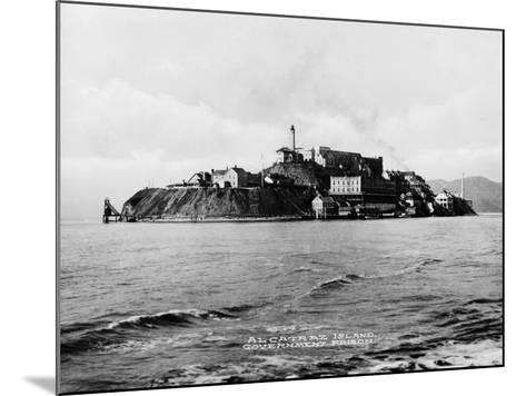 The Rock' United States Penitentiary on Alcatraz Island in San Francisco Bay California, Ca. 1940s--Mounted Photo