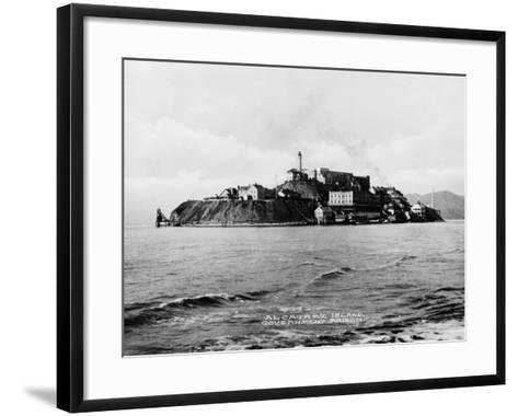 The Rock' United States Penitentiary on Alcatraz Island in San Francisco Bay California, Ca. 1940s--Framed Art Print