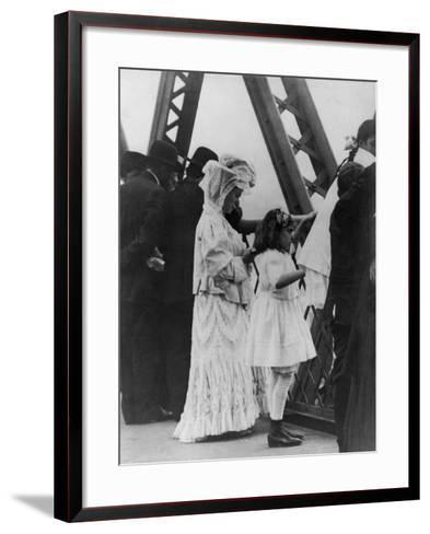 Jews Praying on the Williamsburg Bridge on Yom Kippur, Ca. 1909--Framed Art Print