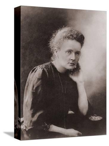 Marie Curie Polish-French Physicist Won Two Nobel Prizes, Ca. 1900--Stretched Canvas Print