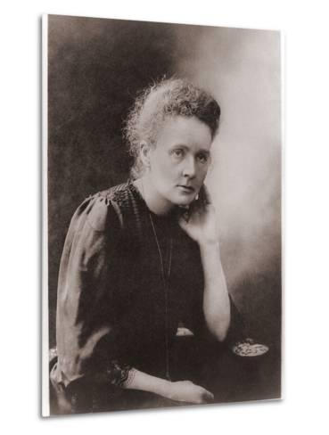 Marie Curie Polish-French Physicist Won Two Nobel Prizes, Ca. 1900--Metal Print