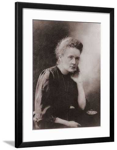 Marie Curie Polish-French Physicist Won Two Nobel Prizes, Ca. 1900--Framed Art Print
