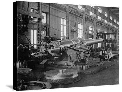 Assembled Cannon in the Foundry of the Washington Navy Yard, 1900--Stretched Canvas Print