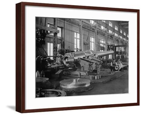 Assembled Cannon in the Foundry of the Washington Navy Yard, 1900--Framed Art Print