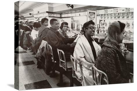 African Americans Sit in at a Lunch Counter in Nashville, Tennessee in 1960--Stretched Canvas Print