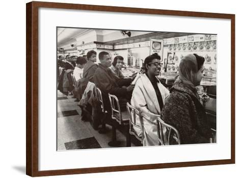 African Americans Sit in at a Lunch Counter in Nashville, Tennessee in 1960--Framed Art Print
