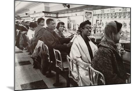 African Americans Sit in at a Lunch Counter in Nashville, Tennessee in 1960--Mounted Photo
