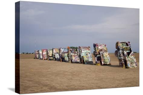 Cadillac Ranch Is a Public Art Installation in Amarillo Texas Was Created in 1874--Stretched Canvas Print