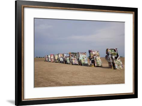 Cadillac Ranch Is a Public Art Installation in Amarillo Texas Was Created in 1874--Framed Art Print