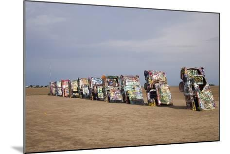 Cadillac Ranch Is a Public Art Installation in Amarillo Texas Was Created in 1874--Mounted Photo