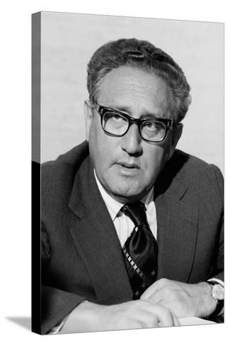 Henry Kissinger as Secretary of State in the Gerald Ford Administration. March 3 1976--Stretched Canvas Print