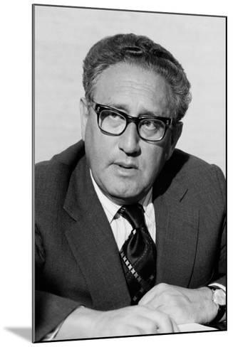 Henry Kissinger as Secretary of State in the Gerald Ford Administration. March 3 1976--Mounted Photo