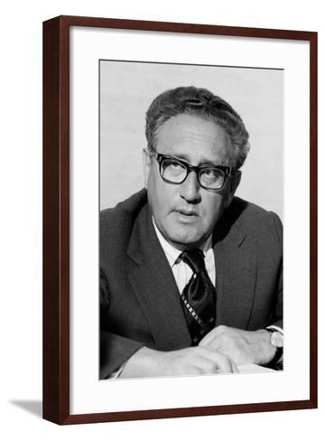 Henry Kissinger as Secretary of State in the Gerald Ford Administration. March 3 1976--Framed Art Print