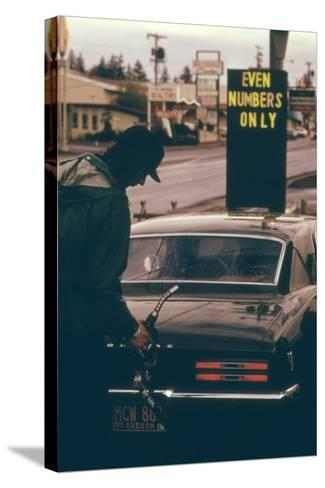 Oregon Used Odd and Even License Plate Numbers to Ration Gas in 1970s--Stretched Canvas Print