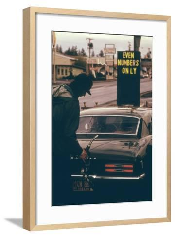 Oregon Used Odd and Even License Plate Numbers to Ration Gas in 1970s--Framed Art Print