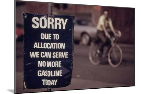 No Gas Sign During the Arab Oil Embargo after 1973 Yom Kipper War--Mounted Photo