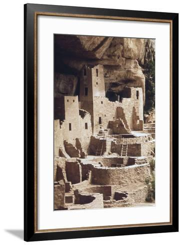 The Cliff Palace at the Mesa Verde Was Inhabited in the 12-13th Centuries--Framed Art Print