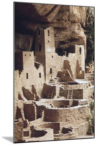 The Cliff Palace at the Mesa Verde Was Inhabited in the 12-13th Centuries--Mounted Photo