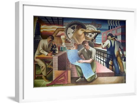 Wpa Mural. Mural by Charles Klauder Ca, 1940. Located in the Cohen Building Washington D.C--Framed Art Print