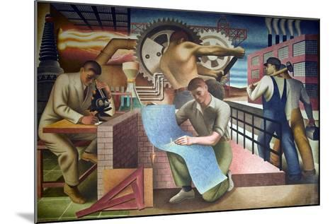 Wpa Mural. Mural by Charles Klauder Ca, 1940. Located in the Cohen Building Washington D.C--Mounted Art Print