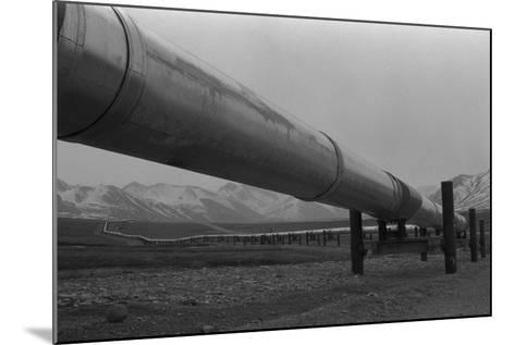 Alaska Pipeline at its Highest Elevation Near Atigun Pass, in Brooks Range, 1977--Mounted Photo