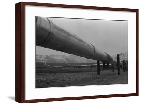 Alaska Pipeline at its Highest Elevation Near Atigun Pass, in Brooks Range, 1977--Framed Art Print