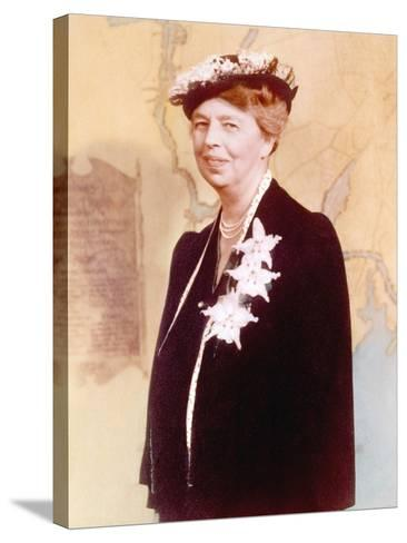 Eleanor Roosevelt, Hand Colored Photograph Circa 1936--Stretched Canvas Print