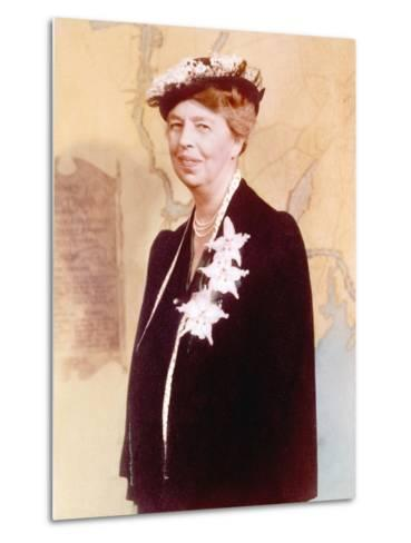 Eleanor Roosevelt, Hand Colored Photograph Circa 1936--Metal Print