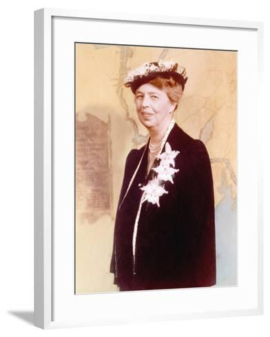 Eleanor Roosevelt, Hand Colored Photograph Circa 1936--Framed Art Print