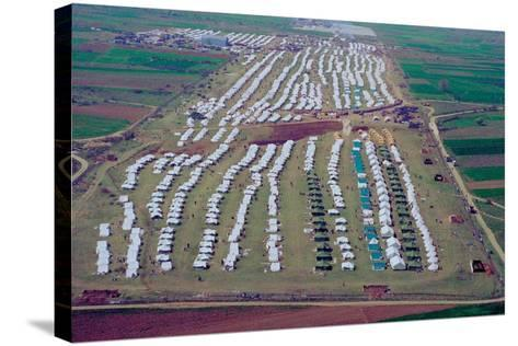 Brazda/Stenkovac Refugee Camp in Macedonia Sheltered over 50,000--Stretched Canvas Print