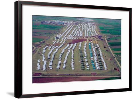 Brazda/Stenkovac Refugee Camp in Macedonia Sheltered over 50,000--Framed Art Print