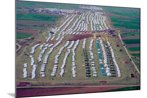 Brazda/Stenkovac Refugee Camp in Macedonia Sheltered over 50,000--Mounted Photo