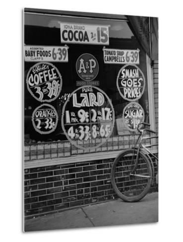 A&P Chain Food Market Advertises its 1939 Food Prices--Metal Print