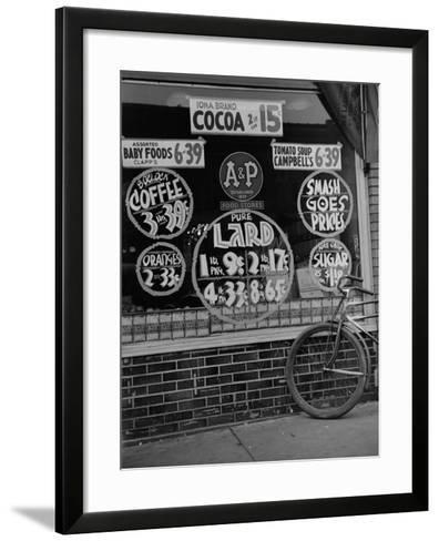 A&P Chain Food Market Advertises its 1939 Food Prices--Framed Art Print