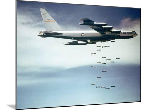 Us Air Force B-52 Dropping 750 Pound Bombs over Vietnam, Ca. 1965-1966--Mounted Photo