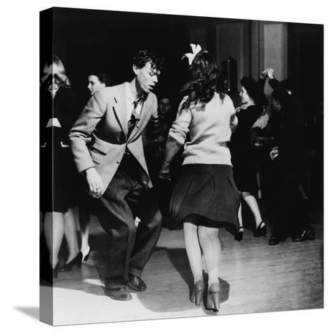 Jitterbugs at an Elk's Club Dance, in Washington, D.C. April 1943--Stretched Canvas Print