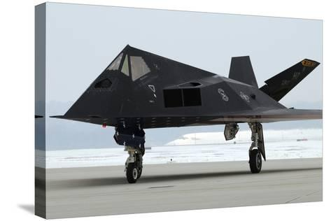 F-117 Nighthawk Stealth Fighter at its Retirement Ceremony, Ohio, 2009--Stretched Canvas Print