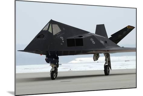 F-117 Nighthawk Stealth Fighter at its Retirement Ceremony, Ohio, 2009--Mounted Photo
