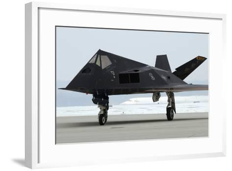 F-117 Nighthawk Stealth Fighter at its Retirement Ceremony, Ohio, 2009--Framed Art Print
