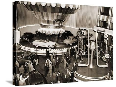 1949 Model Ford Cars Introduced to the Public in Grand Ballroom of the Waldorf-Astoria Hotel, NYC--Stretched Canvas Print