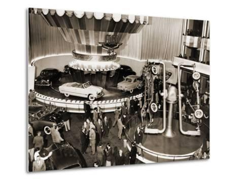 1949 Model Ford Cars Introduced to the Public in Grand Ballroom of the Waldorf-Astoria Hotel, NYC--Metal Print