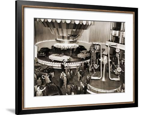 1949 Model Ford Cars Introduced to the Public in Grand Ballroom of the Waldorf-Astoria Hotel, NYC--Framed Art Print