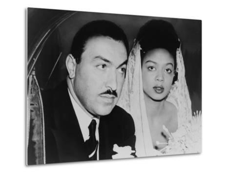 Adam Clayton Powell, Jr. and His Bride, Hazel Dorothy Scott, 1925--Metal Print