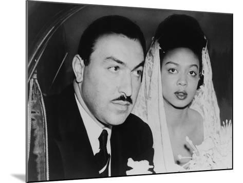 Adam Clayton Powell, Jr. and His Bride, Hazel Dorothy Scott, 1925--Mounted Photo