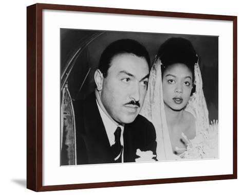 Adam Clayton Powell, Jr. and His Bride, Hazel Dorothy Scott, 1925--Framed Art Print