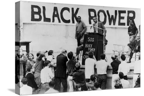 Stokely Carmichael Speaking at the University of California at Berkeley, Ca. 1965-67--Stretched Canvas Print