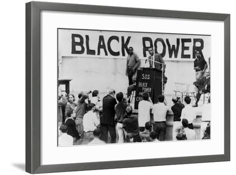 Stokely Carmichael Speaking at the University of California at Berkeley, Ca. 1965-67--Framed Art Print